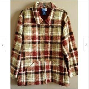 Venezia Jeans Jacket Plus Sz 18-20 Plaid Fleece